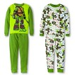 Teenage Mutant Ninja Turtles Boys' 4-Piece Long-Sleeve Pajama Set w/ Flashlight