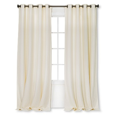 "Threshold™ Basketweave Curtain Panel - Cream (54x84"")"