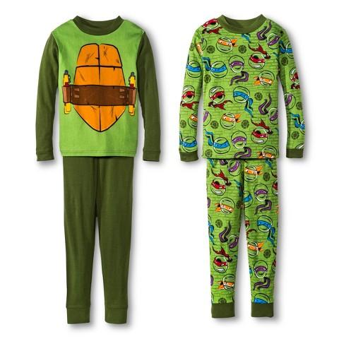 Teenage Mutant Ninja Turtles Boys' 4-Piece Long-Sleeve Pajama Set
