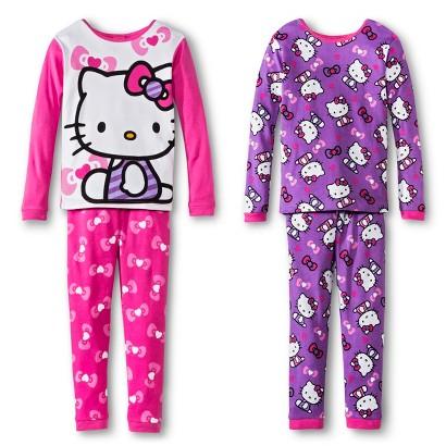 Hello Kitty Girls' 4-Piece Sleep Set