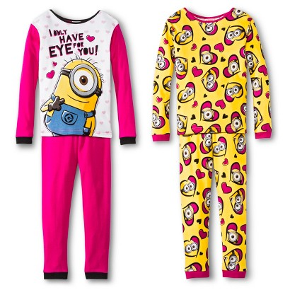 Despicable Me Girls' Minions 4-Piece Sleep Set