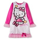 Girls' Hello Kitty Long-Sleeve Nightgown