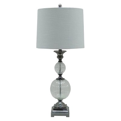 Metal Table Lamp with Cream Shade