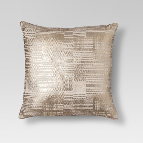 Throw Pillows For Couch Target : Gold Foil Throw Pillow - Threshold : Target