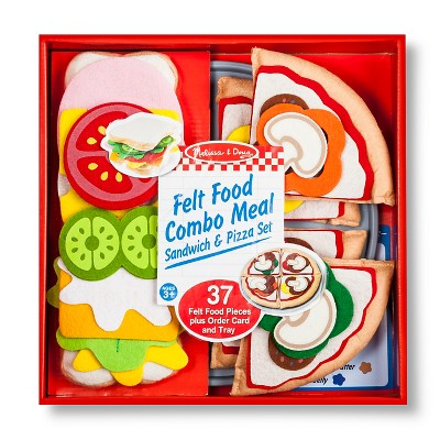 Melissa & Doug® Felt Food Pizza/Sandwich Set