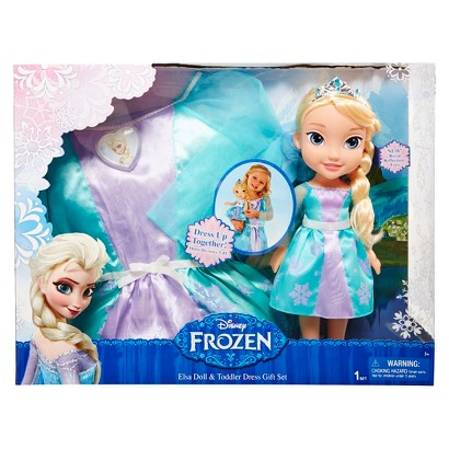 Disney Frozen -- Elsa Doll and Toddler Dress Combo