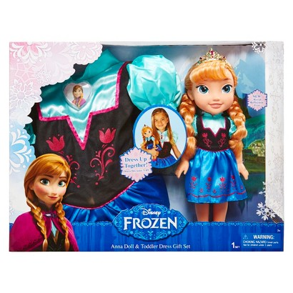Disney Frozen Anna Doll and Toddler Dress Combo &#16