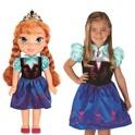 Disney Frozen Anna Doll & Toddler Dress Combo