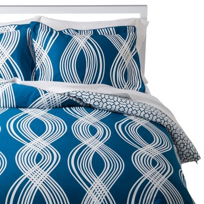 Pop Quatrefoil Comforter Set - Midnight (Full/Queen)