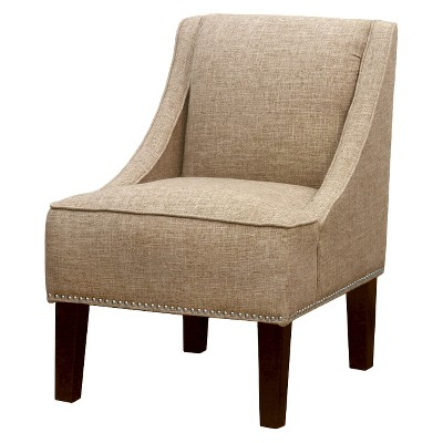 Hudson Solid Nailbutton Chair - Tan