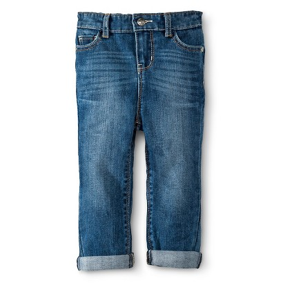 Infant Toddler Girls' Rolled Cuff Jean