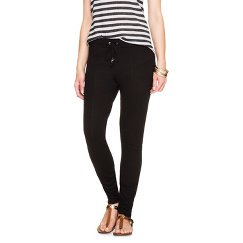 Women's Drawstring Lounge Pant Black - Mossimo