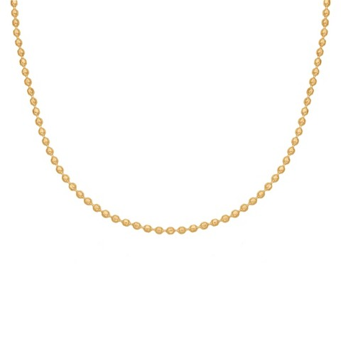 Treasure Lockets™ Gold Plated Stainless Steel Bead Chain Necklace - 18""