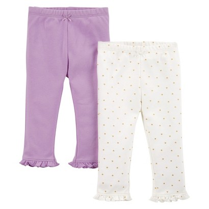 Just One You™Made by Carter's® Newborn Girls' 2 Pack Pant - Purple/White