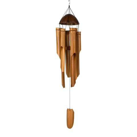 Asli Arts® - Half Coconut Bamboo Chime - Large