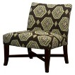 Owen X-Base Upholstered Armless Chair - Brown Medallion