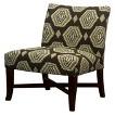 Owen X-Base Slipper Chair - Brown Medallion