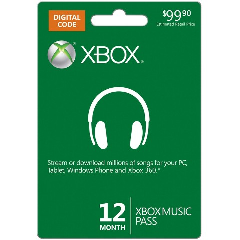 Xbox Music 12 Month Pass - $99.90 (email delivery)