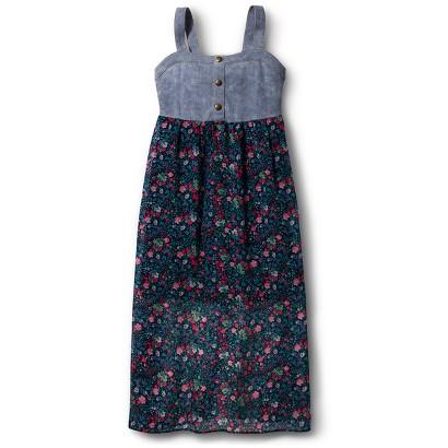 Girls' Floral Maxi Dress