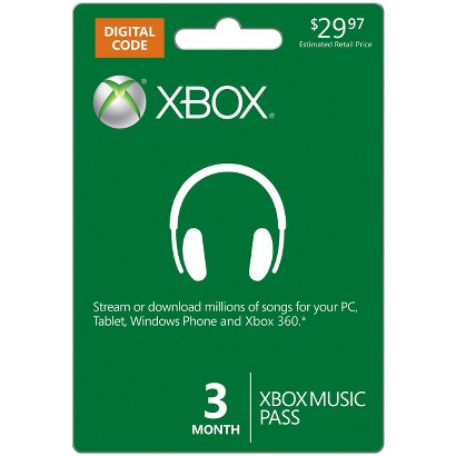 Xbox Music 3 Month Pass - $29.97 (email delivery)