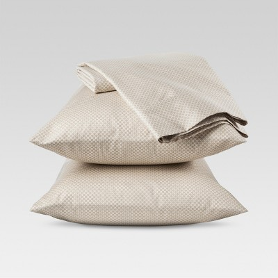 Threshold™ Performance 400 TC Sheet Set - Tan Circle Lattice (Queen)