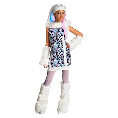 Image of Girl's Monster High Abbey Bominable Child Costume - S(4-6)
