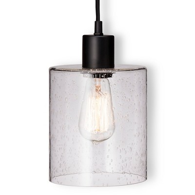 Threshold™ Seeded Glass Industrial plug-in Pendant (Includes Edison bulb)