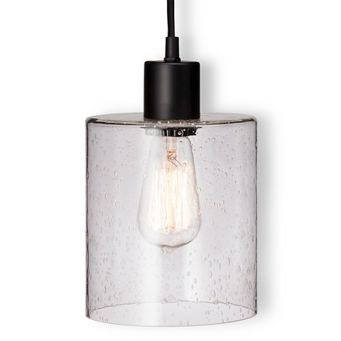 threshold seeded glass industrial plug in pendant includes edison. Black Bedroom Furniture Sets. Home Design Ideas