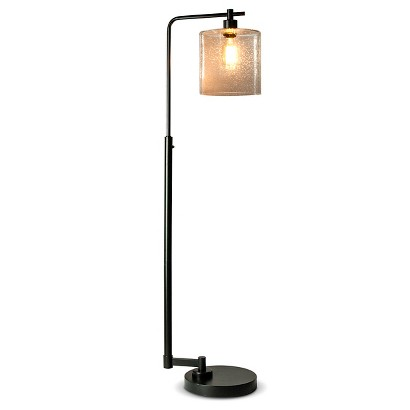 Threshold™ Seeded Glass Industrial Floor Lamp (Includes Edison bulb ...