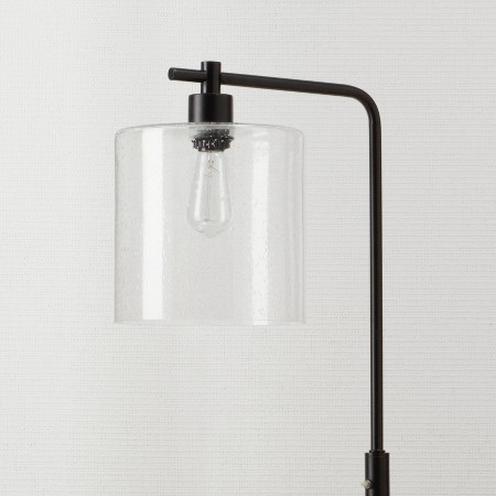 threshold seeded glass industrial floor lamp includes edison bulb. Black Bedroom Furniture Sets. Home Design Ideas