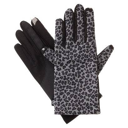 Impressions by Isotoner Leopard Smartouch Technology Gloves - Gray