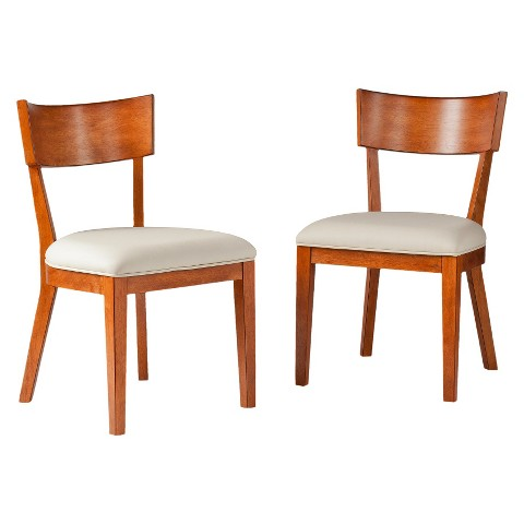 Southern Enterprises Petra Dining Chairs - Pecan