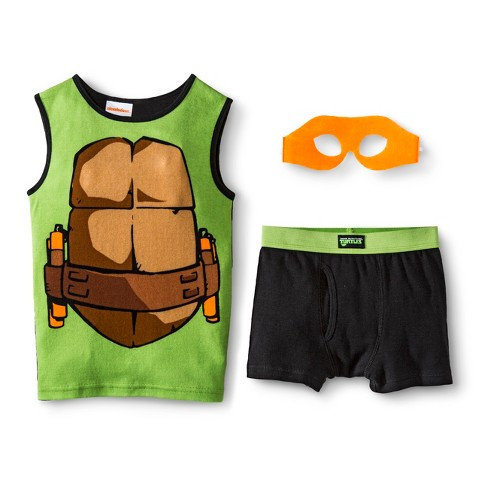 Boys' Teenage Mutant Ninja Turtles 'Donatello' Tank/Underwear Set w/ Mask