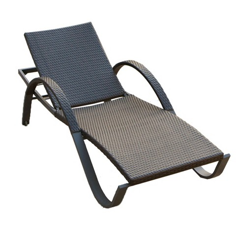 Deco Wicker Stacking Chaise Lounge