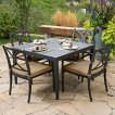 Astoria 5-Piece Metal Patio Dining Furniture Set - Beige
