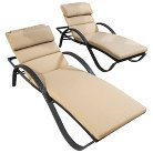 RST Brands Deco Chaise Lounges Set of 2