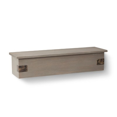 Threshold™ Wall Shelf with Metal Accents - Gray