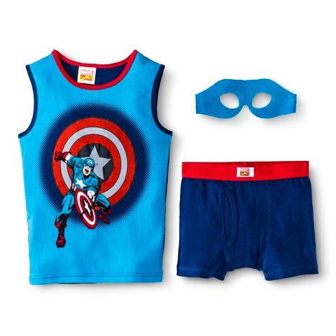 Boys' Captain America Tank/Underwear Set w/ Mask