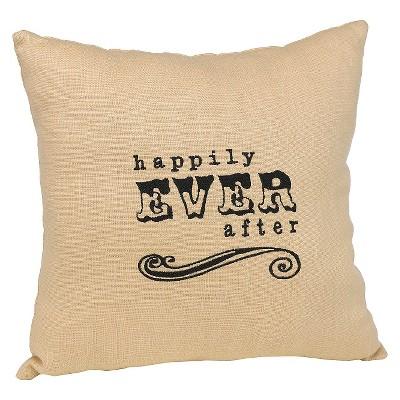 Decorative Pillow Hortense B. Hewitt Love And Romance Tan Black