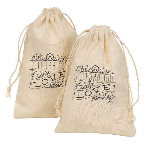 Celebration of Love and Friendship Favor Bags - Cream