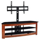 TV Stand with Removable Mounts - Brown/Black