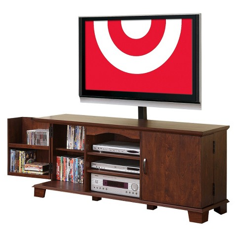 TV Stand with Side Storage - Brown