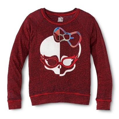 Monster Chic Girls' Skull Sweatshirt