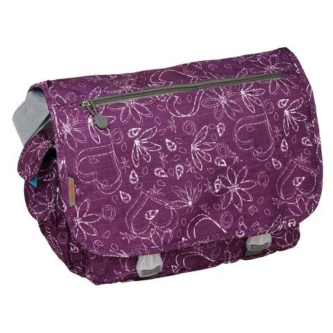 J World Terry Messenger Bag- Love Purple