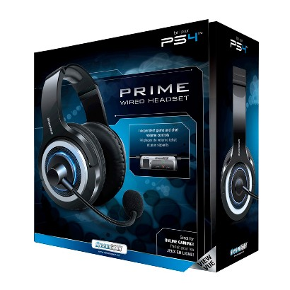 DreamGEAR Prime Wired Headset - Black (PlayStation 4)