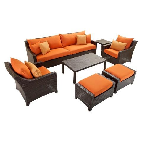 Deco 8-Piece Wicker Conversation Furniture Set