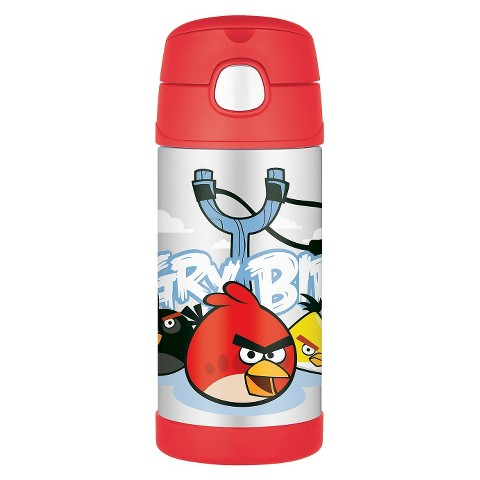 Thermos Angry Birds 12oz Beverage Bottle - Black