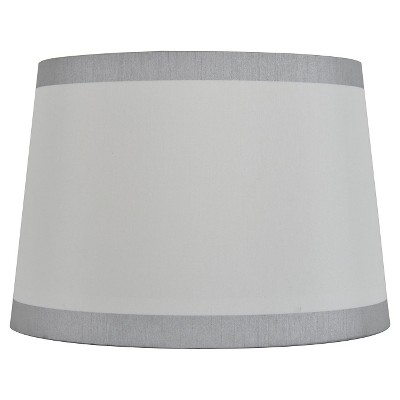 Threshold 8 X 10 X 7 Inch True White Silver Lampshade