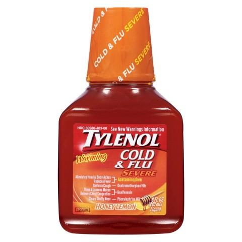 Tylenol Honey Lemon Cold and Flu Severe Liquid