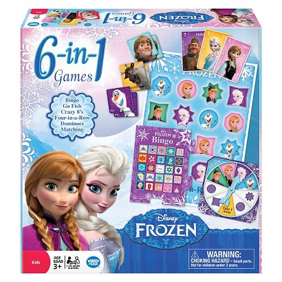 Disney Frozen 6 in 1 Games - Target Exclusive